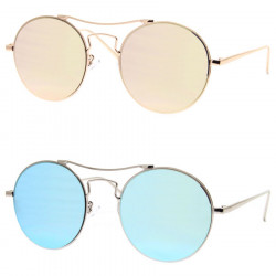 LU0024 BOBIJOO Jewelry Sunglasses Metal Round Pink Blue