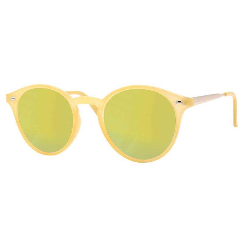LU0027 BOBIJOO Jewelry Lunettes de soleil Rondes Citron Plage