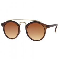 LU0029 BOBIJOO Jewelry Ronda de gafas de sol de Ahumado de Oro de la Vendimia