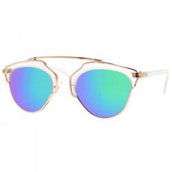 LU0030 BOBIJOO Jewelry Sonnenbrille Kristall Weiß Vergoldet