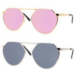 LU0033 BOBIJOO Jewelry Sunglasses Octo Round Pink Black
