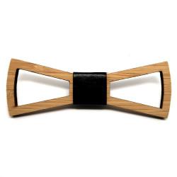 NP0006 BOBIJOO Jewelry Calado de madera bambú pajarita diseño rectángulo