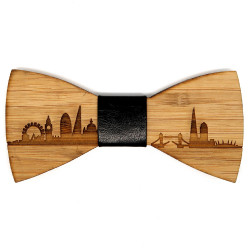 NP0003 BOBIJOO Jewelry Bow tie wood bamboo London GB