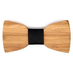 NP0009 BOBIJOO Jewelry Pajarita de madera de bambú clásica neutral