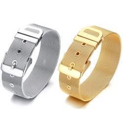 BR0181 BOBIJOO Jewelry Armband Gürtel Frau in Silber oder gold auf gold 18mm