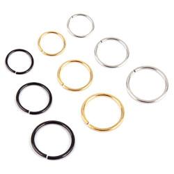PIP0001 BOBIJOO Jewelry Falso Piercing Nariz Oído de Labios de 6, 8 o 10 mm (22G 0,6 mm)