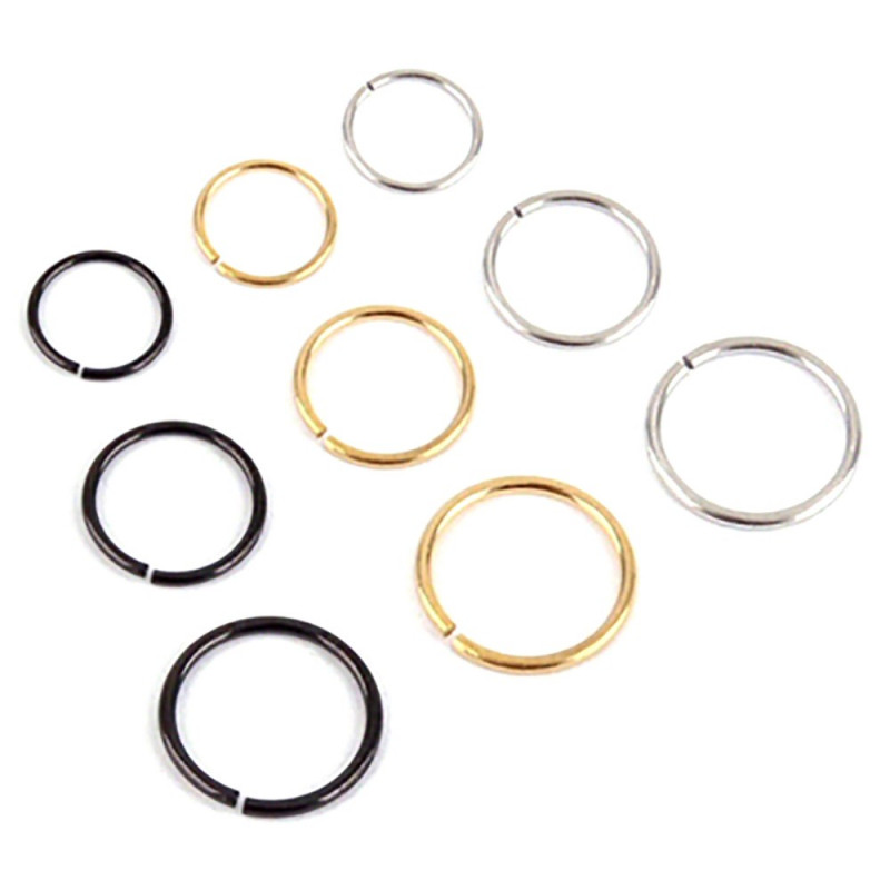 PIP0001 BOBIJOO Jewelry Faux Piercing Nez Oreille Lèvre 6, 8 ou 10mm (22G 0.6mm)