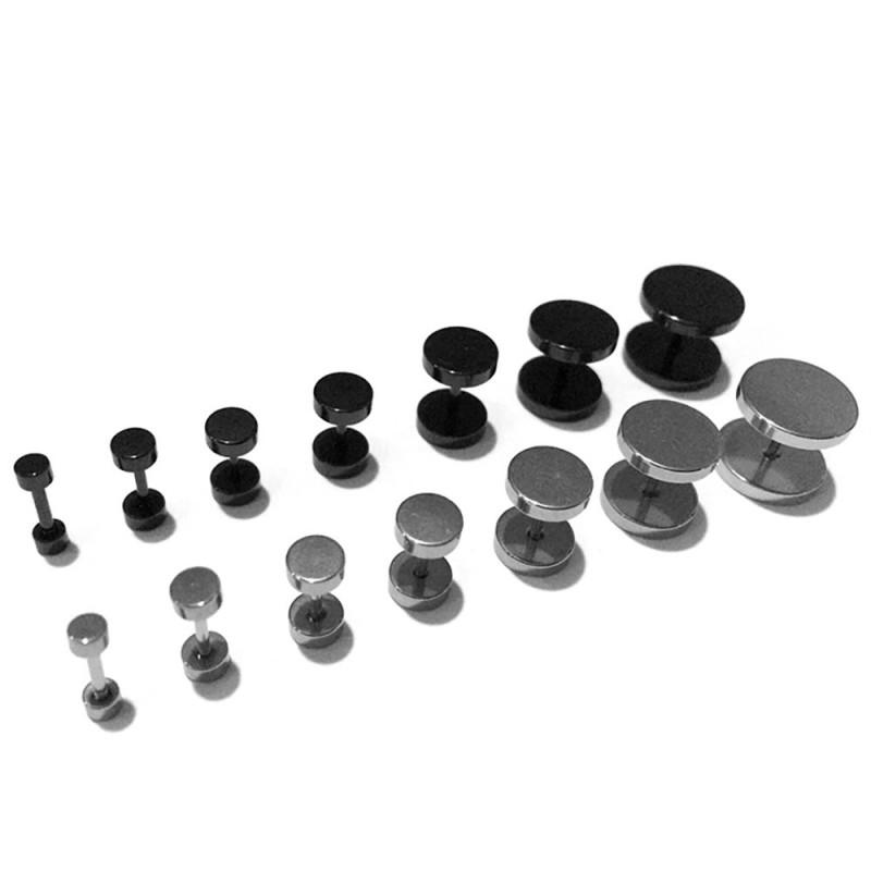 PIP0007 BOBIJOO Jewelry Boucle d'Oreille Faux Piercing Plug Métal Acier Ecarteur