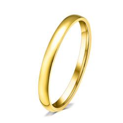 AL0023 BOBIJOO Jewelry Alianza Fino de 3 mm Mixta de Acero Inoxidable chapado en Oro de acabado