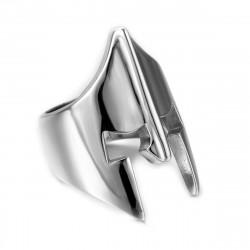 BA0160 BOBIJOO Jewelry Siegelring Ring-Helm Ritter Rüstung Mittelalter