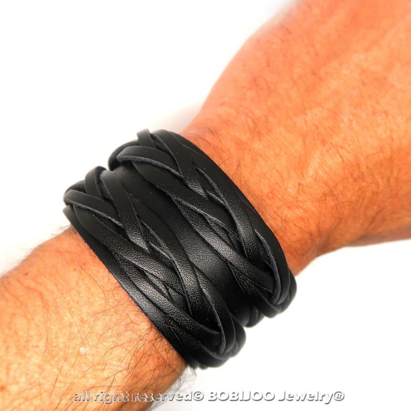 bracelet cuir homme manchette
