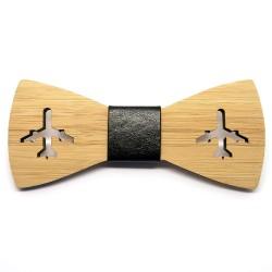 NP0012 BOBIJOO Jewelry Bow-Tie Holz Bambus Flugzeug Luftfahrt