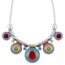 COF0012 BOBIJOO Jewelry Halskette Frau Bunt Emaille Ethnischen Böhmischen
