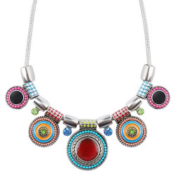 COF0012 BOBIJOO Jewelry Necklace Women Multi-Coloured Emaillé Ethnic Bohemian