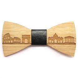 NP0020 BOBIJOO Jewelry Pajarita madera bambú Roma Italia