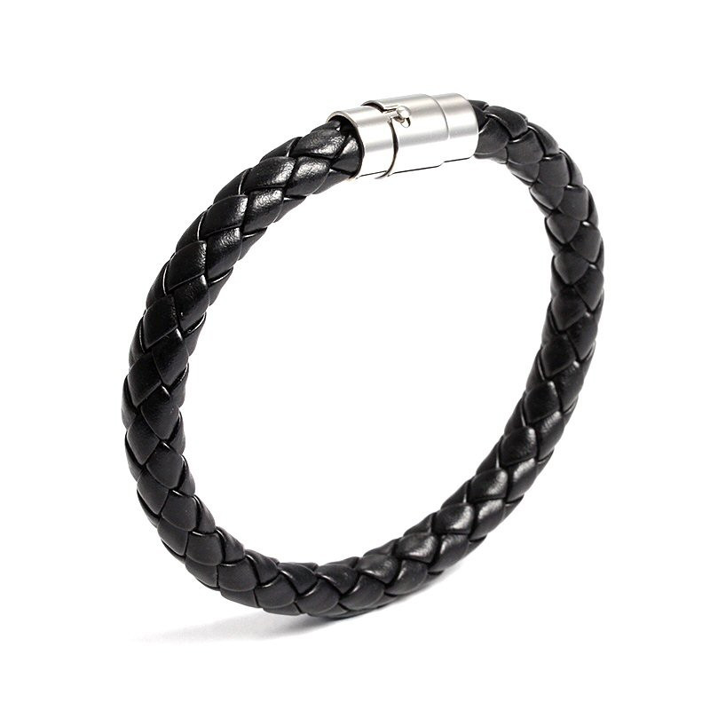 BR0017 BOBIJOO Jewelry Bracelet Braided Leather Man Woman