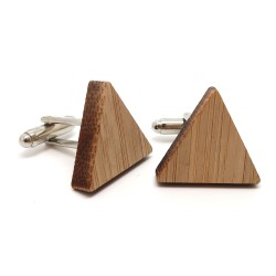 BM0027 BOBIJOO Jewelry Cufflinks Wood Triangle Geometry