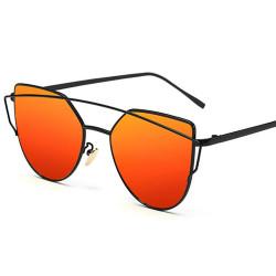 LU0035 BOBIJOO Jewelry Sonnenbrille Metall im Futuristischen Stil Schwarz Orange Rosa
