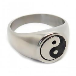 BA0200 BOBIJOO Jewelry Ring Siegelring-Mann-Frau, Yin-und Yang-Stahl