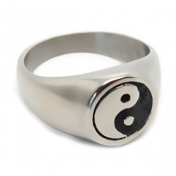 BA0200 BOBIJOO Jewelry Ring Signet ring Man Woman Yin and Yang Steel