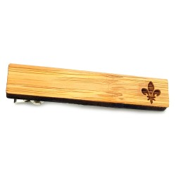 PAC0002 BOBIJOO Jewelry A Tie-clip Wood Fleur-de-Lys