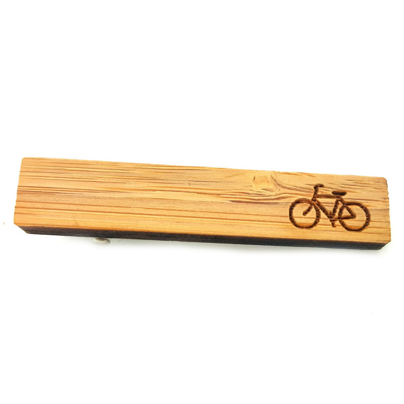 PAC0005 BOBIJOO Jewelry Pince à Cravate Bois Vélo Cycliste