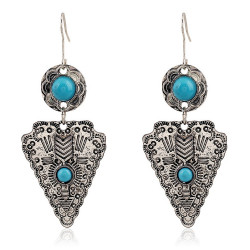 Pair of earrings Silver Turquoise
