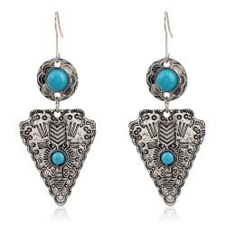 BOF0028 BOBIJOO JEWELRY Pair of earrings Silver Turquoise