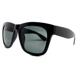 LU0001 BOBIJOO Jewelry Sunglasses Classic Style Black Gloss or Matte Black