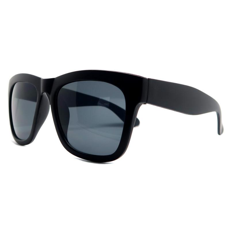 Lunettes de Soleil Style Classique Noir Brillant ou Noir Mat bobijoo