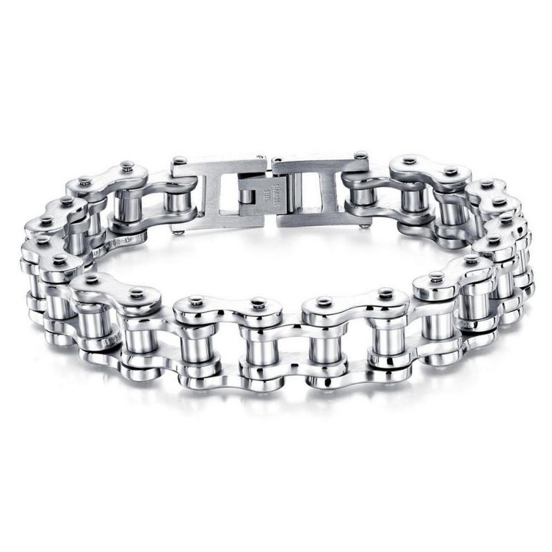BR0246 BOBIJOO Jewelry Bracelet Chaine de Moto Acier Chrome Classique