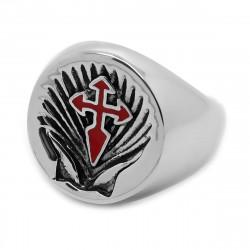BA0231 BOBIJOO Jewelry Ring Siegelring Kreuz Schwert von santiago de Compostela