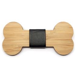 NP0031 BOBIJOO Jewelry Fliege Holz, Bambus, Knochen Hund