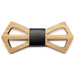 NP0030 BOBIJOO Jewelry Knoten-Schmetterling-Holz-Bambus-Geometrie-Design