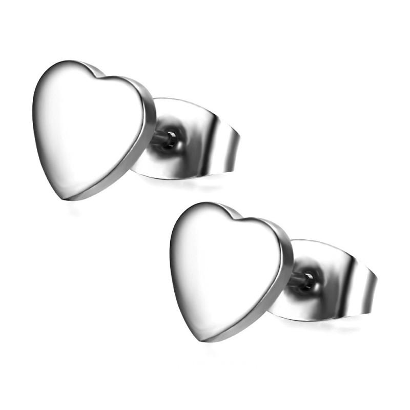 BOF0090 BOBIJOO JEWELRY Earrings Heart Love Love Steel
