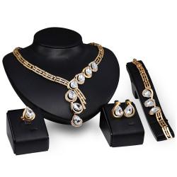 PA0010 BOBIJOO Jewelry Ornamento di Nozze fantasia Diamante Sera Dorata Oro