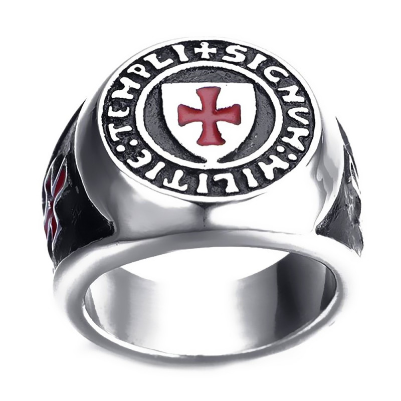 BA0220 BOBIJOO Jewelry Bague Chevalière Ordre des pauvres soldats du Christ