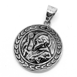 PE0078 BOBIJOO Jewelry Pendant Medal Saint Benedict Protection Steel