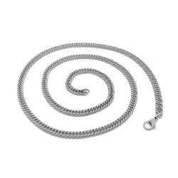 PE0117 BOBIJOO Jewelry Catena Maglia catena di Frenare 60cm 4mm in Acciaio Inox